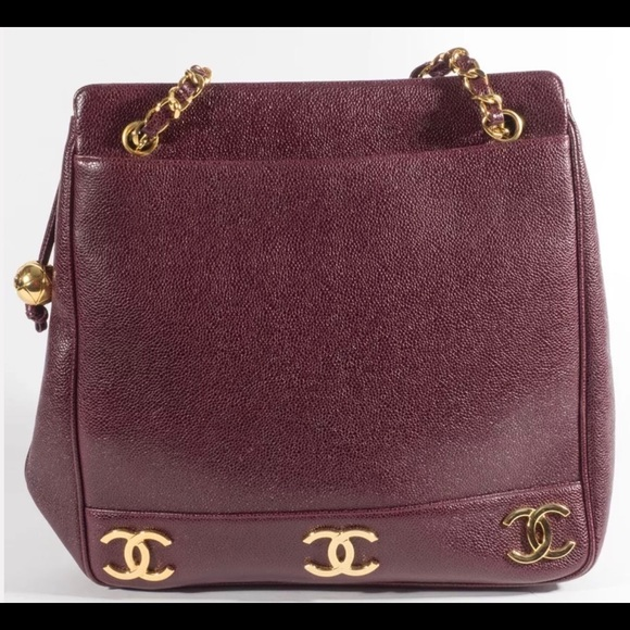 2297e87a20a26e CHANEL Bags | Amazing Authentic Xl Burgundy Caviar Tote | Poshmark